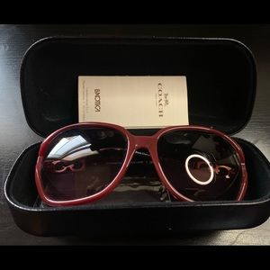 Beautiful large black cherry sunnies from Coach!
